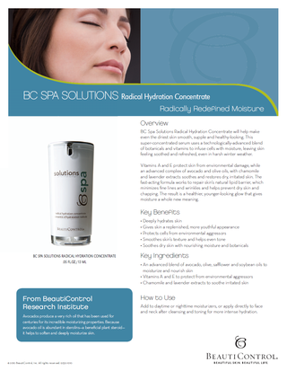 BC Spa Solutions Radical Hydration Concentrate