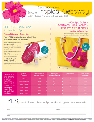 June hostess flier