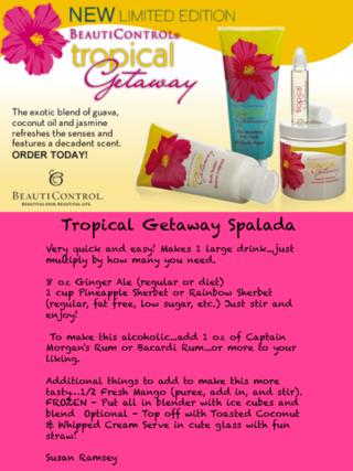 Tropical getaway spalada recipe
