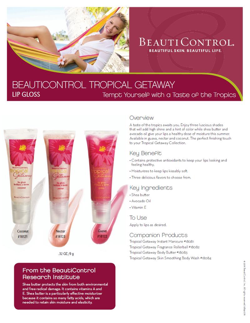 Tropical getaway lip gloss