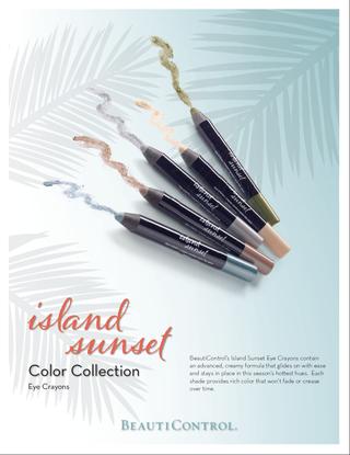 Island sunset pencils