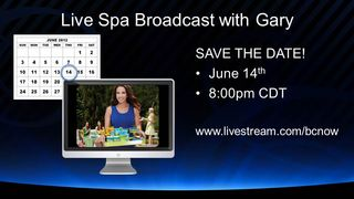 Spa with Gary live broadcast