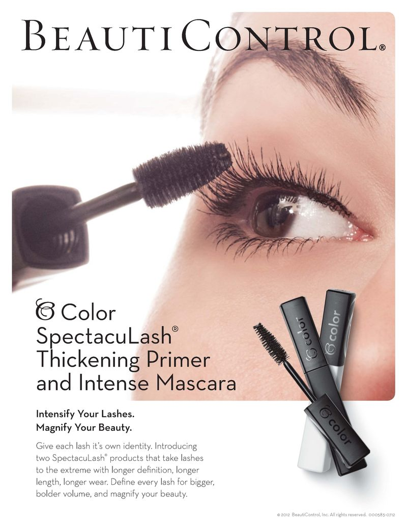 Mascara and primer ad slick