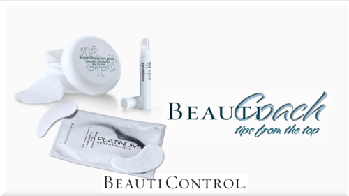 Beauticoach header eye pads patches and roller ball