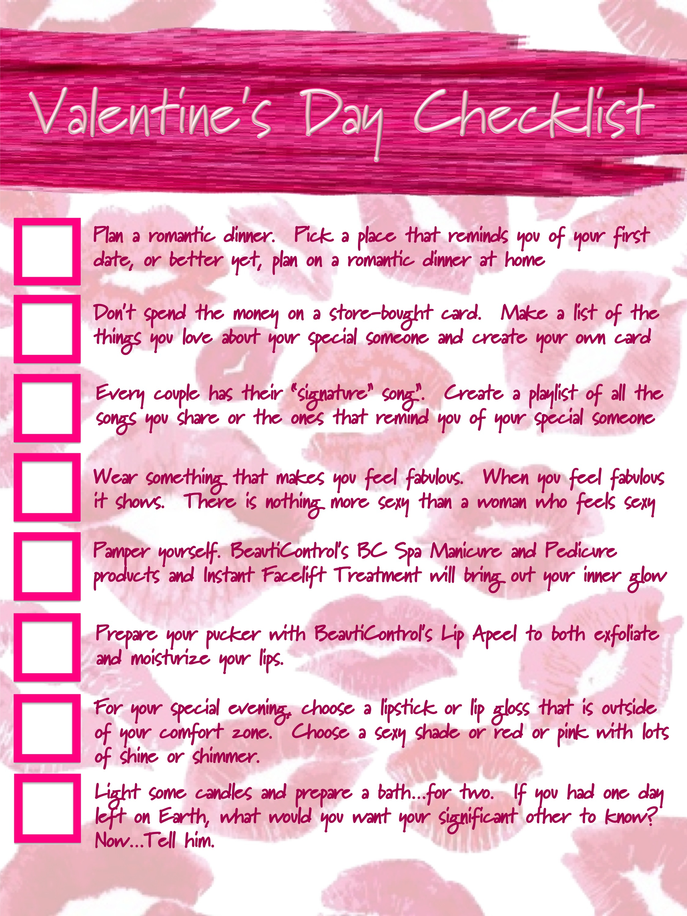 Gary S Blog Beauticoach Valentine S Day Check List