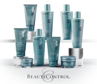Bc spa facial collection on shelf